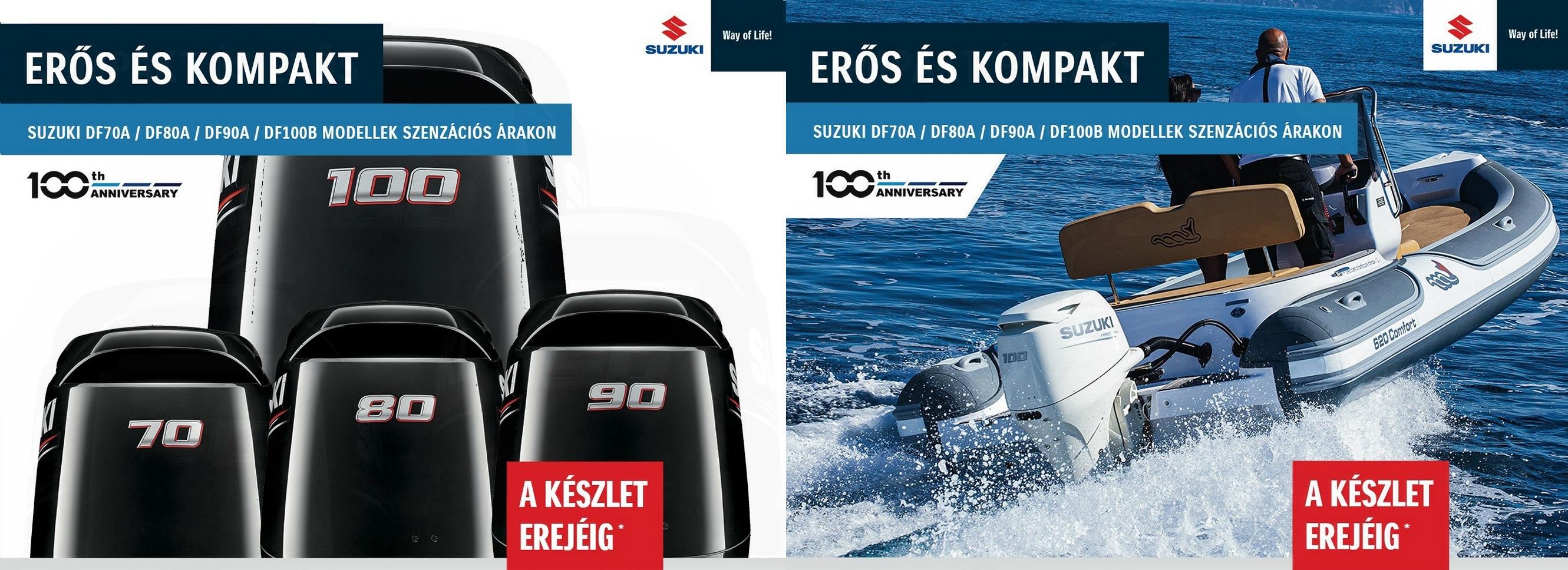 Erős és kompakt csónakmotorok 40-100 lóerőig